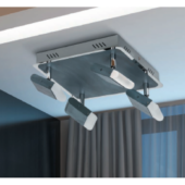 Rábalux Marcus LED 4 izzós mennyezeti lámpa - szürke