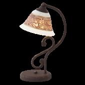 Rábalux Magdalena asztali lámpa - kézzel festett -   antik barna - barna