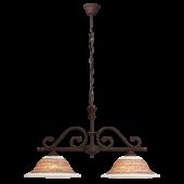 Rábalux Magdalena 2 ágú függeszték - kézzel festett - antik barna - barna