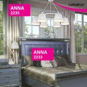 Rábalux Anna 6 izzós függeszték
