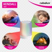 Rábalux Kendall LED zenelejátszós, távirányítós asztali lámpa