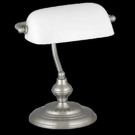 Rábalux Bank asztali lámpa - szatin-króm-fehér