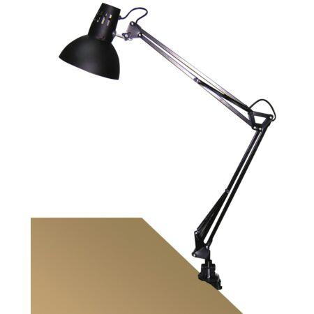 Rábalux Arno asztali lámpa - fekete, fém satuval
