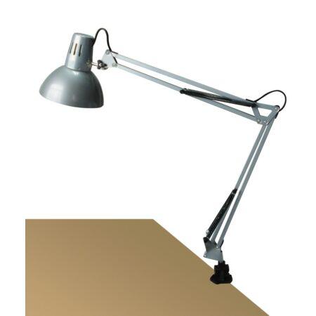 Rábalux Arno asztali lámpa - ezüst, fém satuval