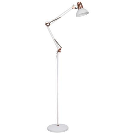 Rábalux Gareth állólámpa - matt fehér/réz