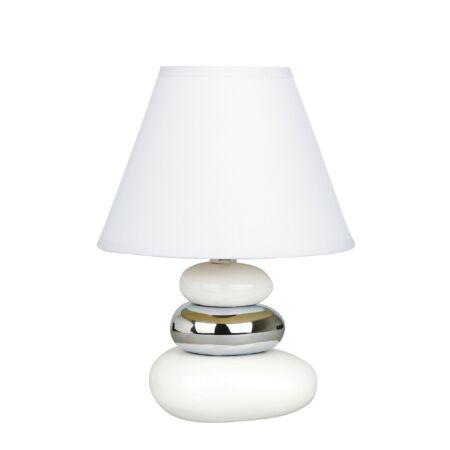 Rábalux Salem asztali lámpa - fehér, ezüst