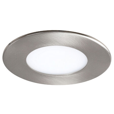 Rábalux Lois LED beépíthető mennyezeti lámpa - kerek - szatin króm - 3W