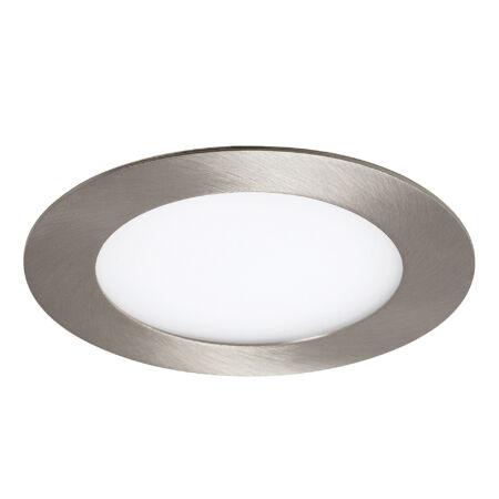 Rábalux Lois LED beépíthető mennyezeti lámpa - kerek - szatin króm - 6W
