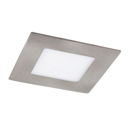 Rábalux Lois LED beépíthető mennyezeti lámpa - szögletes - szatin króm - 3W