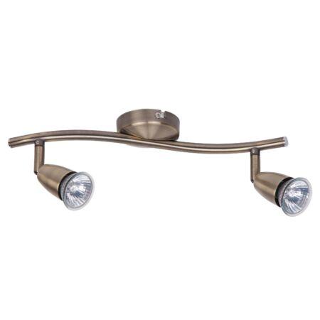 Rábalux Norman 2 izzós mennyezeti lámpa - bronz