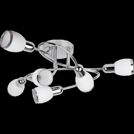 Rábalux Elite 6 izzós mennyezeti lámpa - króm