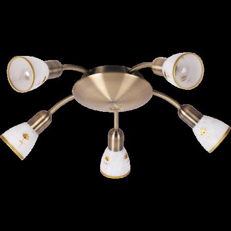 Rábalux Art Flower 5 izzós mennyezeti lámpa - kézzel festett