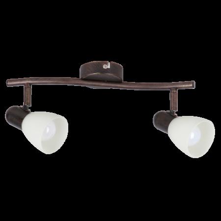 Rábalux Soma 2 izzós fali lámpa - antik barna