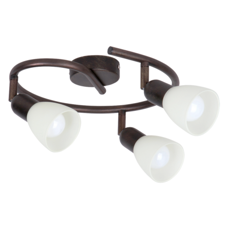 Rábalux Soma 3 izzós mennyezeti lámpa - antik barna
