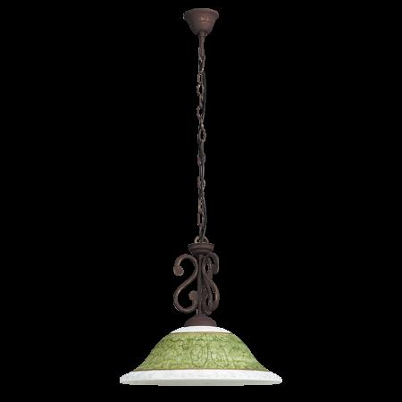 Rábalux Elizabeth függeszték - kézzel festett - antik barna - zöld