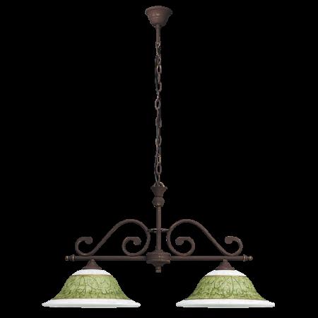 Rábalux Elizabeth 2 ágú függeszték - kézzel festett - antik barna - zöld