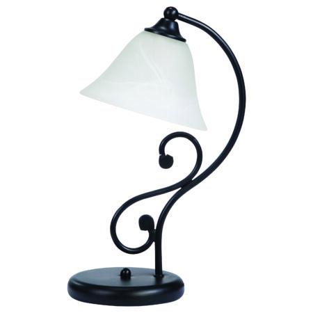 Rábalux Dorothea asztali lámpa vezetékes kapcsolóval - matt fekete