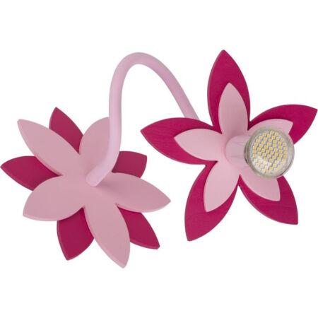 Nowodvorski Flowers gyermek fali lámpa - rózsaszín