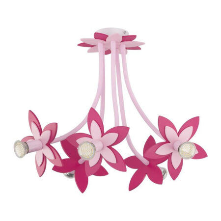 Nowodvorski Flowers gyermek mennyezeti lámpa - rózsaszín