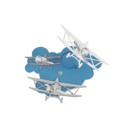 Nowodvorski Plane gyermeklámpa -kék-fehér